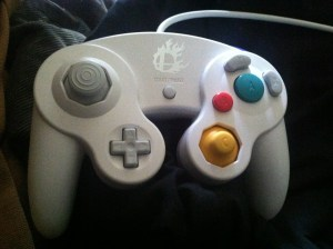 The 2015 portion of my gameplay was performed using this Super Smash Bros. GameCube controller. After all, Villager is a Smash character now.